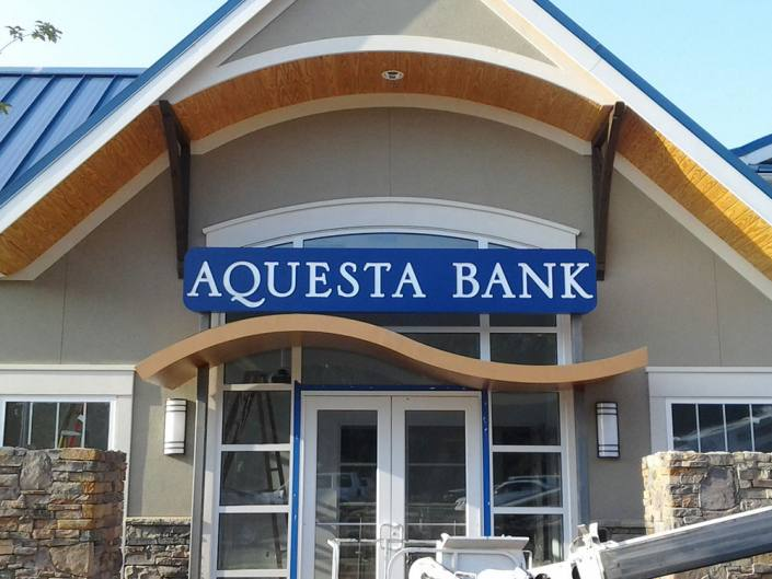 building signage for aquesta bank
