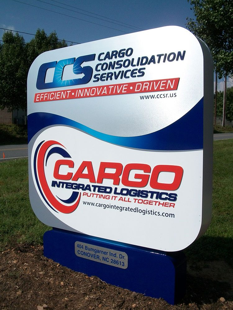 monument signage for caro consolidation services
