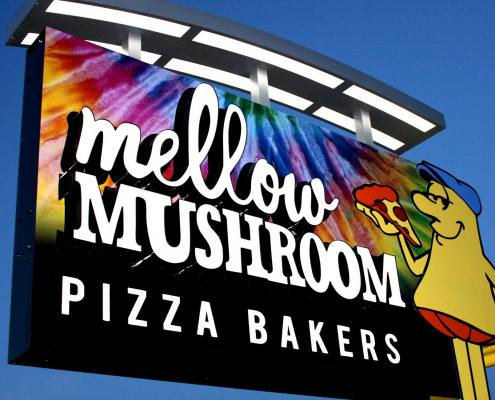 pylon sign for mellow mushroom