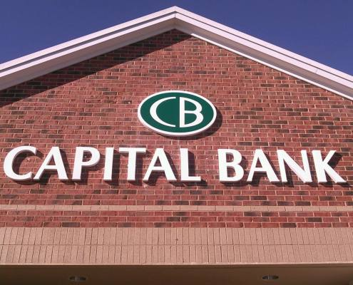building sign at captial bank
