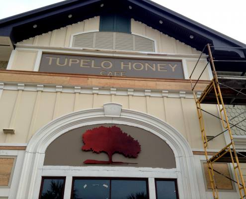 building sign for tupelo honey