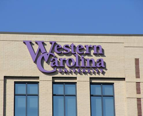 building sign at western carolina university