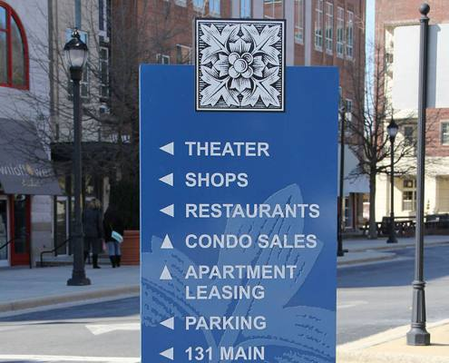 wayfinding sign in asheville nc
