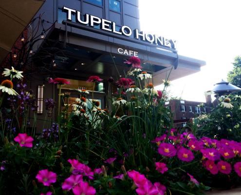 building sign at tupelo honey cafe