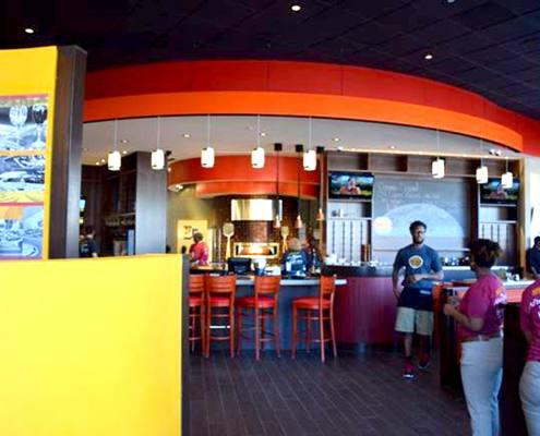 interior signage at brixx pizza