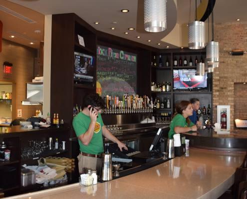 interior bar at brixx pizza