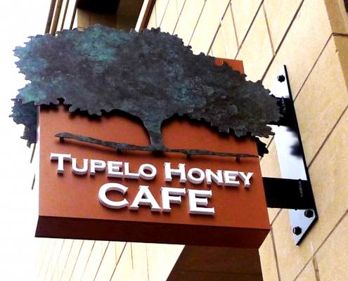 exterior sign at tupelo honey cafe