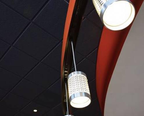 interior lighting at brixx pizza