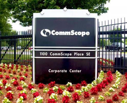 monument sign at commscope
