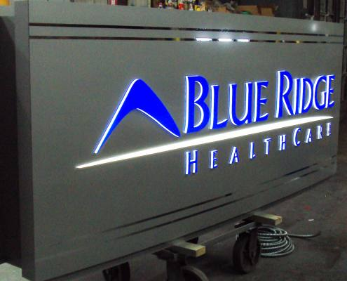 building sign at blue ridge healthcare