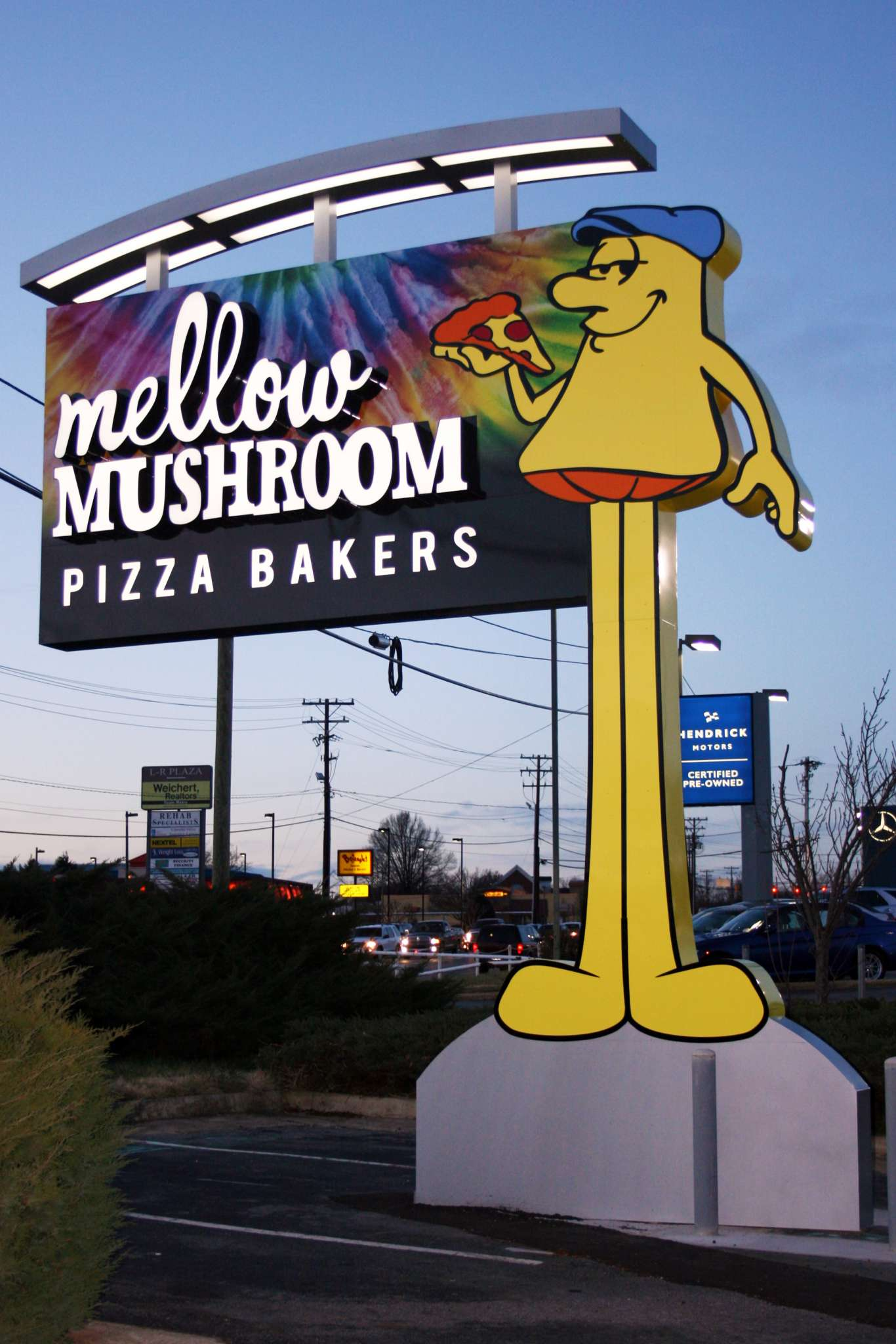 pylon sign at mellow mushroom
