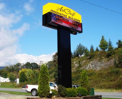 pylon sign at innovative builders