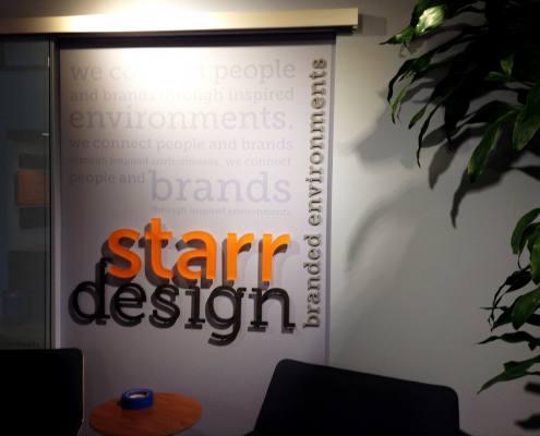 interior sign at starr design