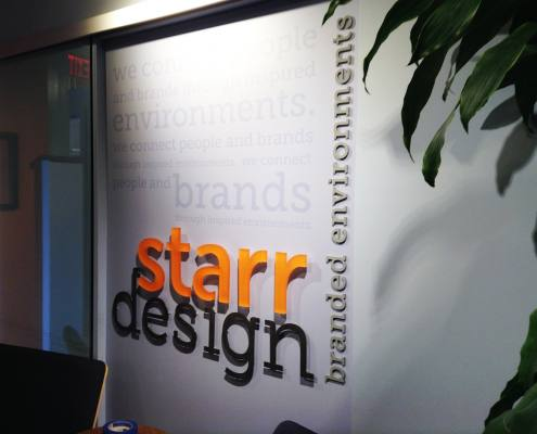 interior signage at starr design