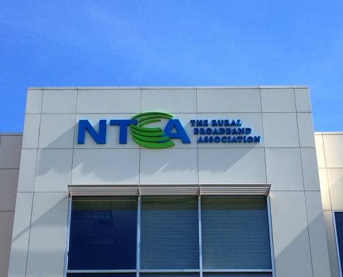 building sign at NTCA - The Rural Broadband Association